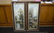 2 Watercolour Painting, both by J Braithwaite, 1 of a farming scene, the ot