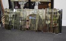Very Impressive Art Deco Style Wall Mirror with bevelled edge glass section