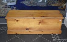 Large Pine Bedding Box, 54 by 18.5 inches.