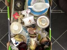 One Box of Glassware and Pottery.