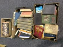Three Boxes Of Assorted 19th/20thC Books, Various Subjects, Lancashire Coun