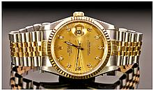 Rolex Oyster Perpetual Date Just 18ct Gold And