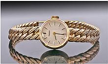 Tissot Ladies 9ct Gold Cased Wrist Watch. With