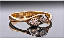 Edwardian 18ct Gold And Platinum Set Two Stone