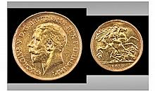 George V 22ct Gold Half Sovereign. Date 1912.