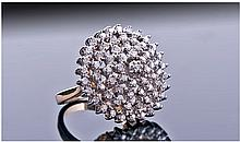 9ct Gold Diamond Cluster Ring. Set with a Quantity