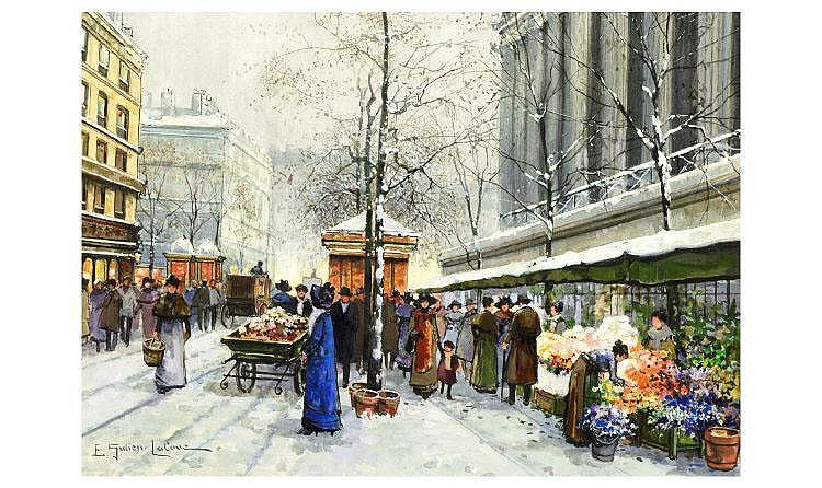 Eugean Galien Laloue 1854-1941 Title 'Rue