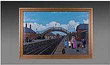 Joe McGinn Title ' Murton Station ' Oil on Board,