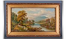 C Walker (19th Century) Signed Oil On Canvas In