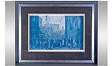 L.S Lowry Limited Edition Coloured Print. 640/850