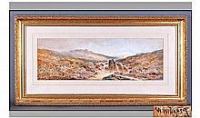 William Widgery 1822 - 1893 Dartmoor Landscape
