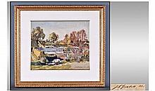John Strickland Goodall 1908 - 1996 Walled Garden