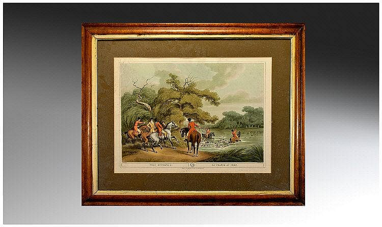 Edward Orme 1807 Print Of Stag Hunting 2 Number 6