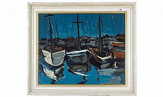 Charles Messent, (1911-1971), Oil on Board, Boats