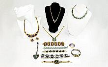 Small Collection of Costume Jewellery mainly bracelets, enamel necklaces et