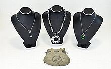 Collection Of Costume Jewellery To include three necklaces, the first a res