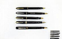 Five Various Fountain Pens including Osmiroid, Parker etc., some possible m