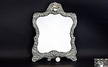 Victorian Period - Very Large and Impressive Embossed Silver Ladies Dressin