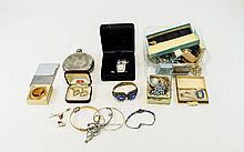Mixed Collection Of Costume Jewellery Comprising Brooches, Stick Pins, Ladi