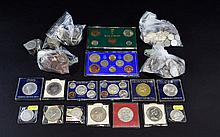 Collection Of Coins, Comprising Modern Commemorative Crowns, 1967 Coins Of