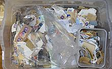 Very Large Box Of Mostly British Stamps On Paper, Mostly Machins And Wildings But Includes Commemorative And Earlier Stamps