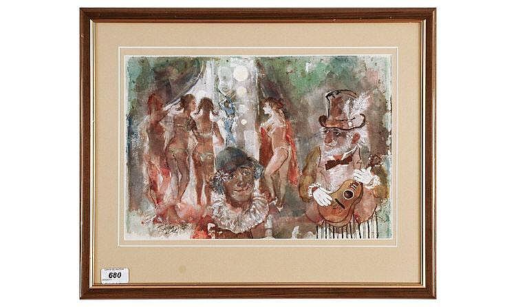 John Uht RA/R1 ( American Artist ) 1924-2010,