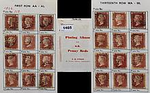Great Britain - Victoria Penny Reds Plating Study - All Plates 119 From AA to AL - Through to - TA to TL. A Rare Chance To Get All 240 Stamps In Good Condition - Please See Photos.