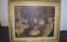 Scene of Ballerinas Performing On Stage  Size 62cmsx50cms.