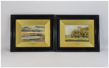 Thomas Hampson Jones (1846-1916) Pair of Framed Watercolours both signed bo