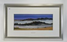Digby Page Acrylic Painting ''Tuscan Dawn''; Painting 10'' x 24'' Modern mo