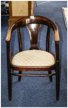 Beech Framed Tub Chair, Padded Seat