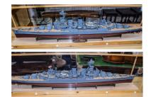 Hachette - Large and Impressive Hand Built Model, of The H.M.S. Hood. Comes