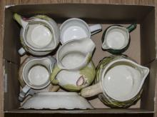 Box Of Misc Pottery Plates, Bowls etc