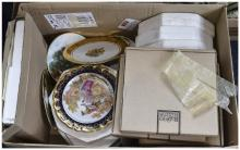 Box of Assorted Cabinet Plates.