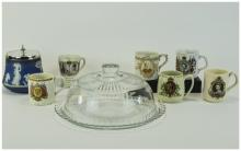 Mixed Lot Of Oriental Pottery, Vase, Dishes, Hotei Buddha Figure etc Look t