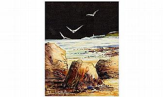 Robyn Kittelty Redman Watercolour. 'Dark Sky -