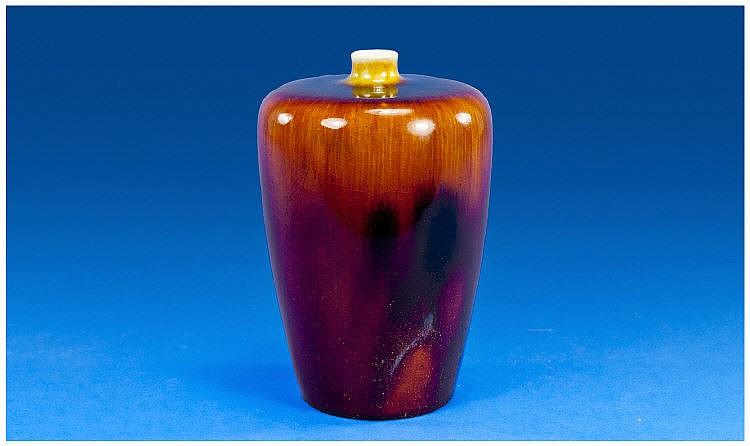Royal Doulton Crystalline Vase ' Chocolate