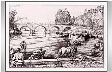 Auguste Lepere (French 1849-1918). L'Abreuvoir Au