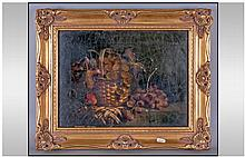 Victorian Gilt Framed Oil Painting On Canvas.