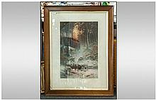 Maurice Utrillo Pair Of Hand Coloured Prints. One
