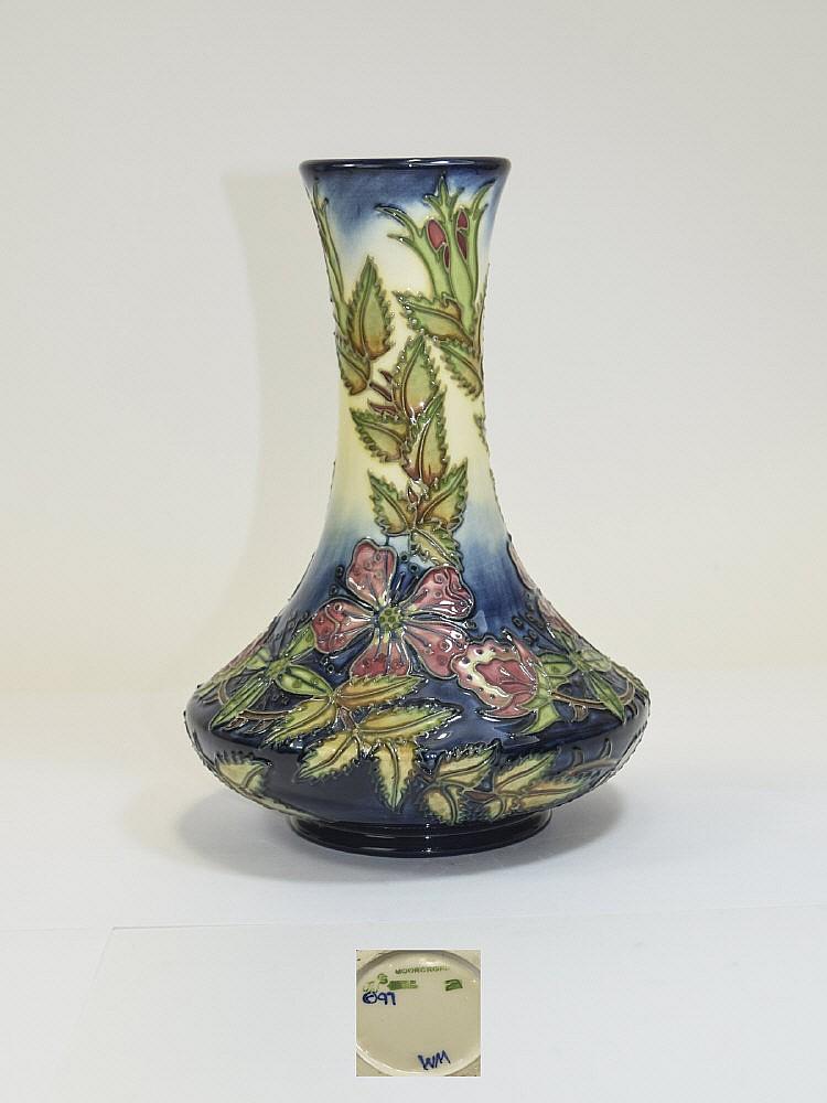 Moorcroft Modern Tubelined Vase 39 Sweet Briar 39 Design Desi