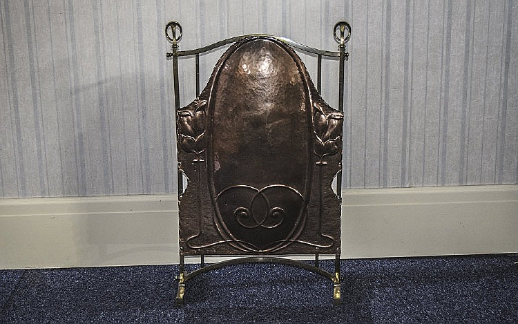 Brass And Copper Fire Screen Arts And Crafts