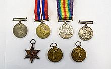 Collection Of Medals 1914 - 1919, 1939 - 1945 Seve