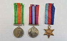 World War II Trio of Military Medals - George VI -