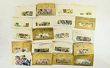 Shoebox full of stamps from around the world sorte