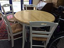 Circular Kitchen Table And Four Chairs, French Sty