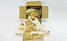 Large box of GB stamps in packets. Must be many th