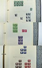 USA and Canada stamps in blue three ring binder. L