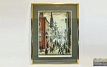 L.S. Lowry Unsigned Ltd Edition Coloured Lithograp