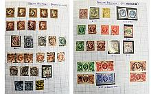 Loose leaf stamp album with GB and Commonwealth st